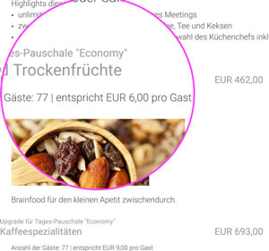 Das Angebot enthält alle relevanten Informationen - eventmachine