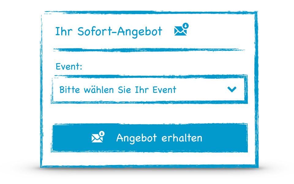 Eventmachine IQ Instant Quote für auto-konfigurierte individuelle Events - eventmachine.