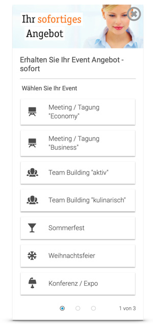 Automatisierte Event-Angebote mit dem IQ Instant Quoting Widget - eventmachine