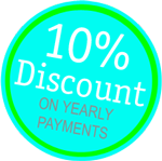 10% discount on yearly contracts